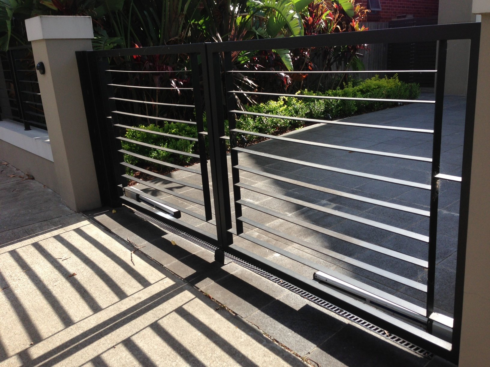 Automatic sliding gates custom design steel Sydney