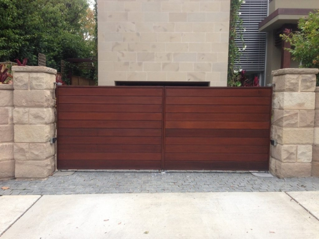 Automatic Swinging Timber Gates Sydney